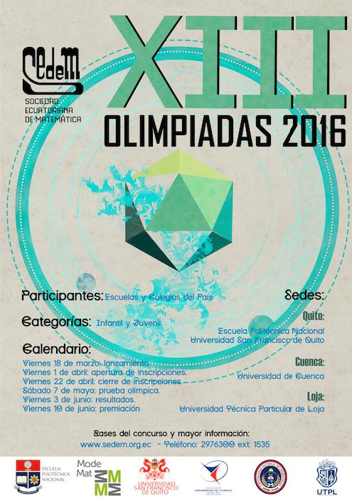 XIII OLIMPIADAS 2016