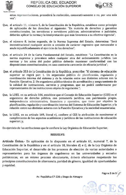 Resolución CES1-2