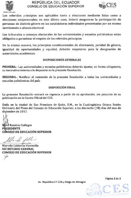Resolución CES1-3