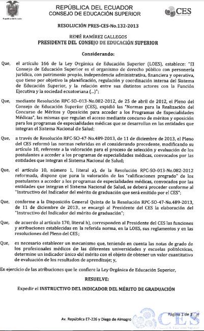Resolución CES2-1