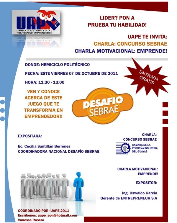 Escuela Politécnica Nacional Uape Te Invita A La Charla